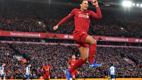 Virgil van Dijk brachte Liverpool per Doppelpack 2:0 in Front.
