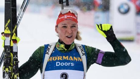 Verfolgungs-Weltmeisterin Denise Herrmann macht sich Hoffnungen auf einen Podestplatz im Sprint.