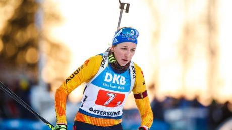 Franziska Preuß erreichte mit Platz vier im Sprint das beste Ergebnis der deutschen Biathletinnen.