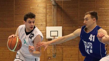 Jadranko Matosevic (links) traf fünf Dreipunktewürfe für Landsberg im Heimspiel gegen Kaufbeuren.