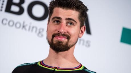 Teammitglied Peter Sagan bei der Vorstellung des Radsportteams.