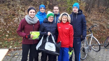 Freuten sich über ihre Ergebnisse beim Jedermannslauf in Oettingen (von links): Mirka Sonntag, Andreas Beck, Theresa Wild, Tobias Gröbl, Katharina Kaufmann und Mario Leser.