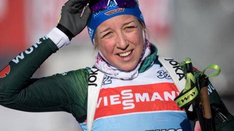 Biathlon Weltcup 2019/20: Lief im Einzel als beste Deutsche auf Rang zwölf: Biathletin Franziska Preuß.