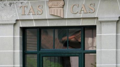 Schriftzug über dem Eingang des internationalen Sportgerichtshofes CAS.
