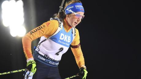 Lief im Einzel als beste Deutsche auf Rang zwölf: Biathletin Franziska Preuß.