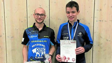 Überzeugend durchgeschlagen haben sich Florian Hofweber (links) und Nachrücker Luca Stella.