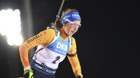 Zeigte gute Ansätze beim Biathlon-Weltcup in Östersund: Franziska Preuß.