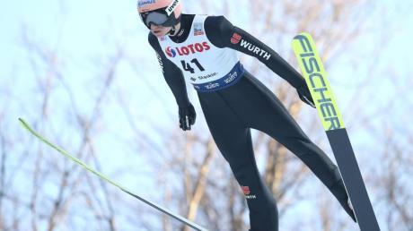Zweiter beim Weltcup in Nischni Tagil: Karl Geiger aus Deutschland.