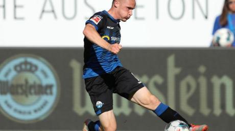 Paderborns Sven Michel ist mit seinem Siegtreffer in der Nachspielzeit zum Matchwinner geworden.
