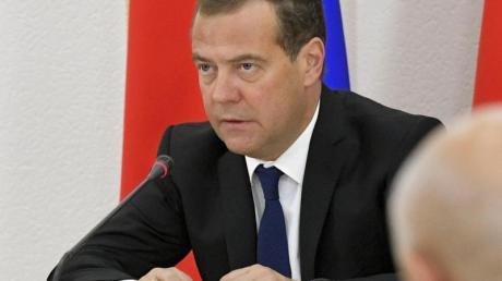 Der russische Regierungschef Dmitri Medwedew kritisierte die Wada-Strafen.