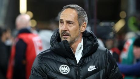 Der Frankfurter Trainer Adi Hütter hofft auf ein Erfolgserlebnis.