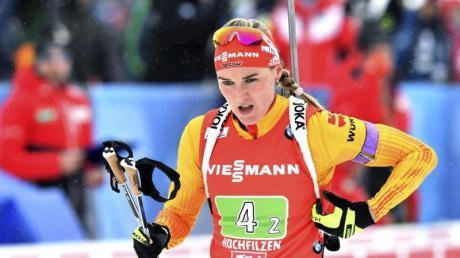 Die Damen-Staffel um Denise Herrmann wurde nur Zwölfte.