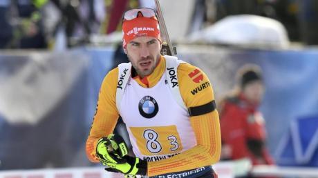Ist mit Deutschlands Biathleten in Le Grand Bornand gefordert: Arnd Peiffer.