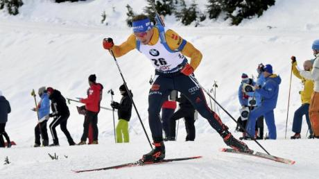 Simon Schempp belegte in der Verfolgung den zehnten Platz.