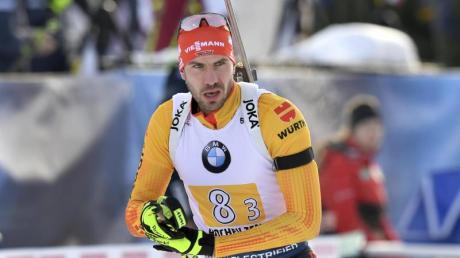 Arnd Peiffer kam beim Massenstartrennen in Frankreich als Siebter ins Ziel.