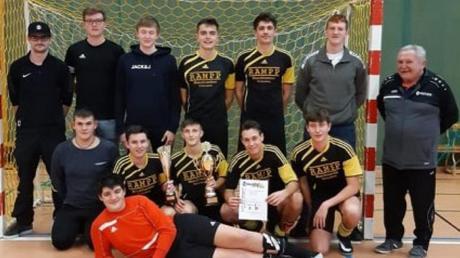 Die A-Junioren der SG Schöneberg sicherten sich in Mindelheim die Unterallgäuer Futsal-Meisterschaft.
