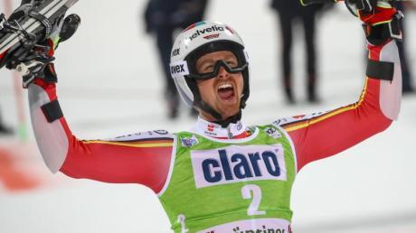 Stefan Luitz war nach seinem zweiten Platz in Alta Badia glücklich.