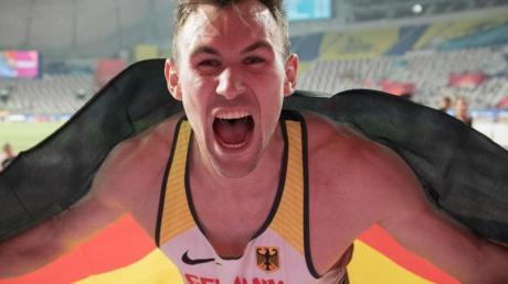 Goldjunge: Niklas Kaul gewann bei der Leichtathletik-WM in Katar Gold im Zehnkampf.