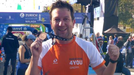 Genoss den Marathon im andalusischen in Malaga: Andreas Greppmeir aus Mering.
