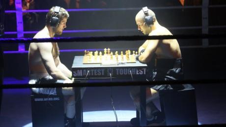 Hier spielt Carl Strugnell (links) in Berlin gegen den Italiener Giuseppe Grasso, die Aufnahme stammt aus dem Jahr 2014.