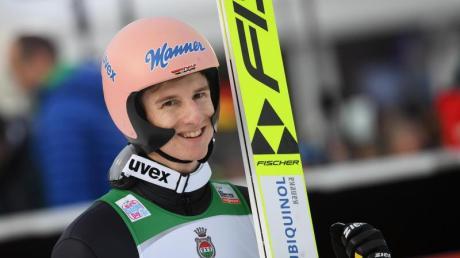 Karl Geiger wurde Zweiter Garmisch-Partenkirchen.
