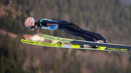 Karl Geiger will beim Neujahrsspringen gewinnen.