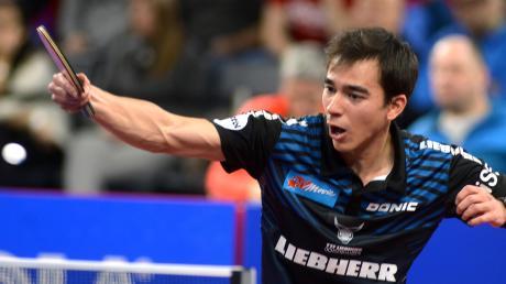 Hugo Calderano beim Final-Four in Neu-Ulm vor einem Jahr. Auf den Spieler des TTF Ochsenhausen wird in diesem Jahr der Fokus ebenso liegen wie auf dem Routinier Timo Boll.