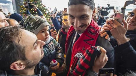 Der Held der Milan-Fans: Zlatan Ibrahimovic.