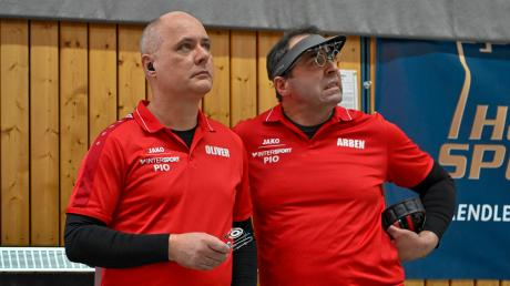 Bange Blicke: Oliver Balg und Arben Kucana haben ihren Wettkampf absolviert. Weder gegen Fürth noch Waldkirch reichte es für sie und ihre Teamkollegen Thomas Ranzinger, Philipp Ranzinger und David Probst für Punkte. Trotzdem schaffte man auf den letzten Drücker den Klassenerhalt in der 1. Bundesliga.