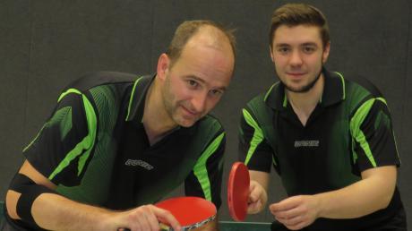 Einziger Finalist aus der Region war der TTC Hausen um Andreas Baumer (links) und Alexander Königsberger in der Bezirksklasse A.