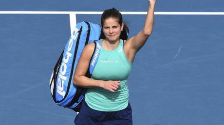 Musste sich in Auckland vor dem Halbfinale verabschieden: Titelverteidigerin Julia Görges.