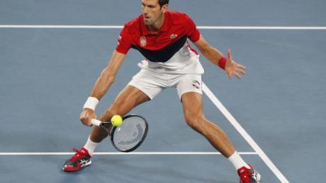 Brachte Serbien gegen Spanien in Führung: Novak Djokovic.