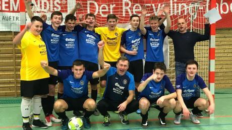 Platz zwei bei den B-Junioren erreichte die SG Ellzee. Das Team qualifizierte sich für die schwäbische Meisterschaft.