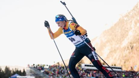 Starke Achte beim Sprint in der Chiemgau Arena: Vanessa Hinz.