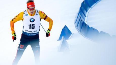 Sprintete in der Chiemgau Arena auf Rang drei: Benedikt Doll.