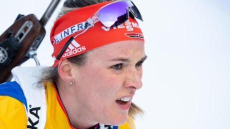 Denise Herrmann will mit der deutschen Damen-Staffel den ersten Podestplatz der Saison erkämpfen.