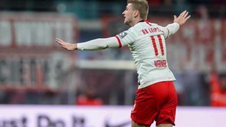 Traf wieder doppelt für RB Leipzig: Timo Werner.
