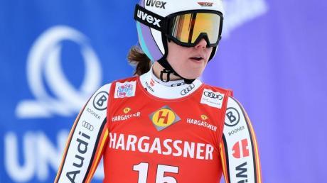 Viktoria Rebensburg schied im Parallel-Riesenslalom früh aus.