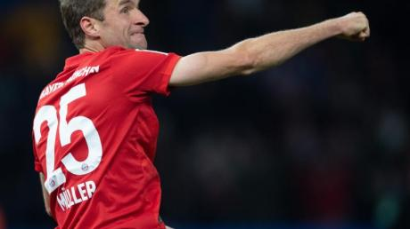 Bayern-Stürmer Thomas Müller traf in Berlin zum zwischenzeitlichen 1:0.