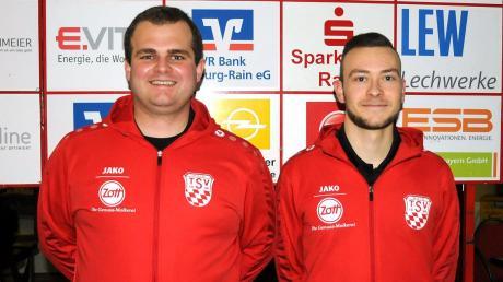 Das neue junge Trainergespann des TSV Rain II: Johannes Hanfbauer (links) und Michael Haid.