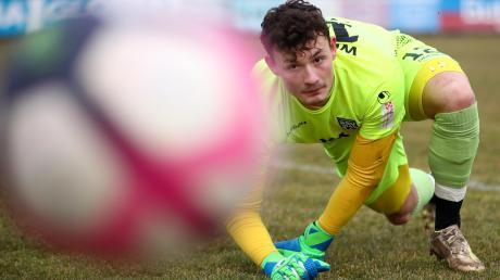 Ulms Ersatztorwart Jerome Weisheit kam im Testspiel gegen Türkgücü München zum Einsatz. Mit 3:1 gewannen seine Spatzen.