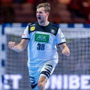 Alle Ergebnisse der Spiele der Handball-WM 2021 in Ägypten finden Sie hier. Im Bild Deutschlands Fabian Böhm, der nach einem Treffer jubelnd die Fäuste ballt.