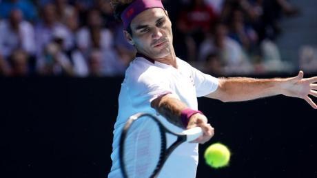 Steht in Melbourne im Halbfinale: Roger Federer.
