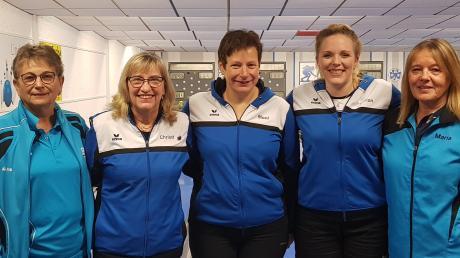 Kegel-Frauenpower (von links): Christa Danter (Dillingen), Christine Grau (BCS), Monika Kopp (BCS), Marion Frey (BCS), Maria Scheid (Nördlingen).