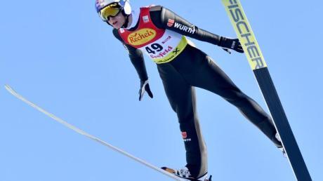 Zeigte sich beim Skispringen deutlich verbessert und wurde in Seefeld Zweiter: Vinzenz Geiger.