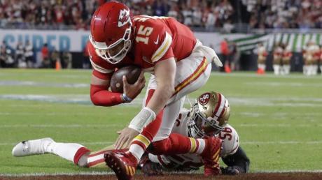Star-Quarterback Patrick Mahomes von den Kansas City Chiefs führt sein Team zum Sieg.