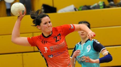Lisa Beutmüller traf zum 17:15 für die BOL-Damen des TV Gundelfingen – zum Heimsieg gegen Aichach reichte es letztlich nicht.