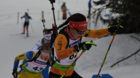 Am letzten Berg wurde Sabrina Braun auch von den zahlreichen Zuschauern nach oben gebrüllt.