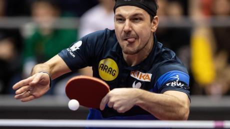 Der Tischtennis-Spieler Timo Boll hat das erste Spiel beim Top-16-Turnier für sich entschieden.