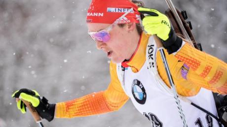 Denise Herrmann will bei der Biathlon-WM erfolgreich sein.
